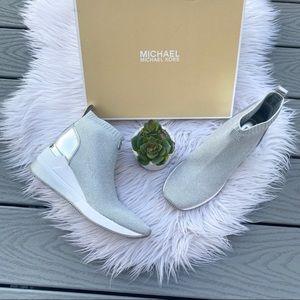 Michael Kors Metallic Sock Sneakers